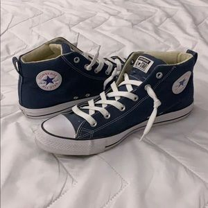 Converse High Top Blue Padded Ankle
